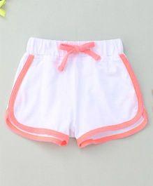 Hallo Heidi Stylish Dual Colored Shorts - White