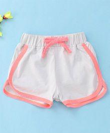 Hallo Heidi Stylish Dual Colored Shorts - Beige