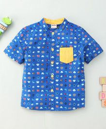 Bee Bee Smart Printed Shirt - Blue