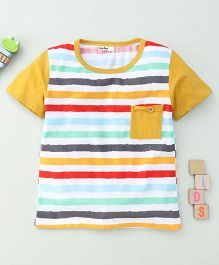 Bee Bee Stripe Print T-Shirt - Multicolour