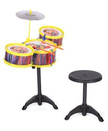Lovely Hip Hop Printed Drum Set - Yellow & Black