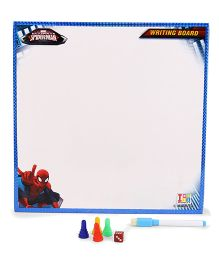 Marvel Spiderman 2 In 1 My Writing And Game Board - Blue