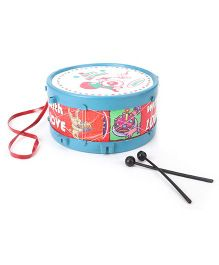 Luvely Musical Drum With Sticks - Red and Blue