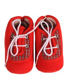Beebop Babee Lace Booties - Red