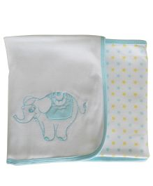 Beebop Double Fold Wrappers Elephant - Blue