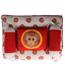 Beebop Lion Print Bedset - Red