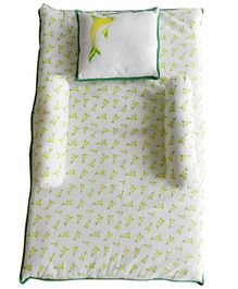 Beebop Lime Dolphin Bedset - Yellow