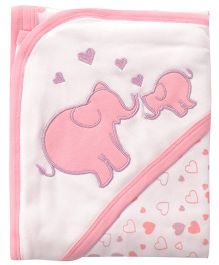 Beebop Elephant Hooded Wrapper - Pink