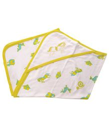 Beebop Horse Hooded Wrapper - Lime