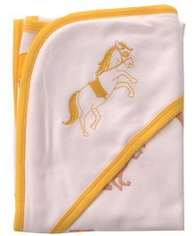 Beebop Horse Hooded Wrapper - Orange