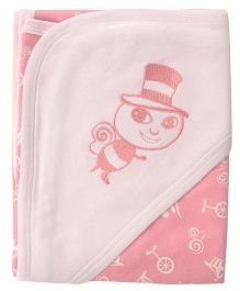 Beebop Bee Hooded Wrapper - Pink