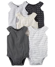 Carter's 5-Pack Tank Top Bodysuits - Black White