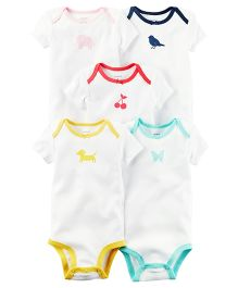 Carter's 5-Pack Short-Sleeve Bodysuits - Multi Colour