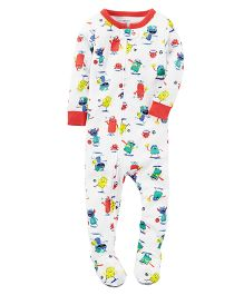 Carter's 1-Piece Snug Fit Cotton PJs - White