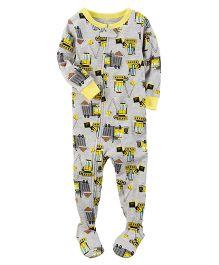 Carter's 1-Piece Snug Fit Cotton PJs - Grey