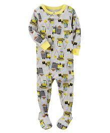 Carter's 1-Piece Snug Fit Cotton PJs - Grey