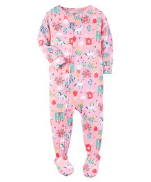 Carter's 1-Piece Snug Fit Cotton PJs - Pink