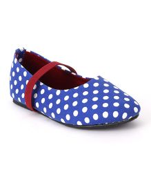 Bee Bee Polka Dot Print Baby Shoes - Blue