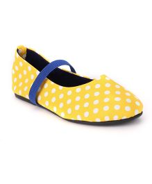 Bee Bee Polka Dot Print Baby Shoes - Yellow
