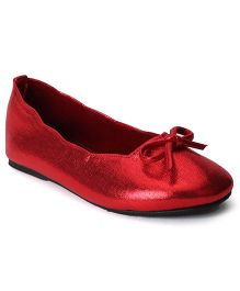 Bee Bee Bow Design Shoes - Red