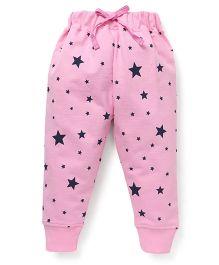 Doreme Full Length Printed Track Pants - Pink Black