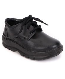 Prefect School Shoes Lace Up - Black