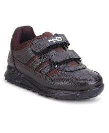 Force 10 Shoes Dual Velcro Closure - Brown
