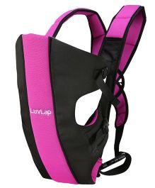 LuvLap Sunshine 2 In 1 Baby Carrier - Black & Pink