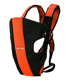 LuvLap Sunshine 2 In 1 Baby Carrier - Black & Orange