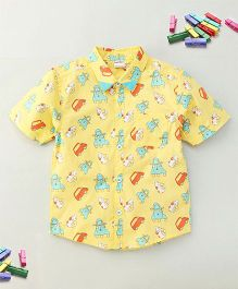 Bee Bee Car Print Shirt - Yellow
