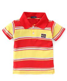 Great Babies Half Sleeves Striped T-Shirt - Red