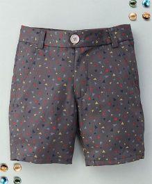 Bee Bee Triangle Print Shorts - Gray
