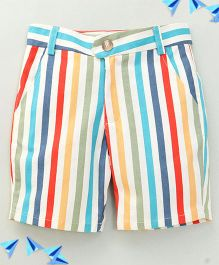 Bee Bee Stripe Printed Shorts - Multicolor