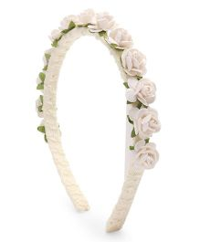 Sweet Berry Flower Hair Band - White