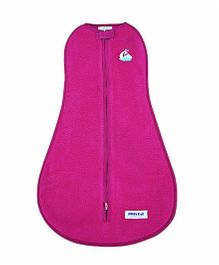 Happy Kids Swaddle With Yatch Design Applique - Pink
