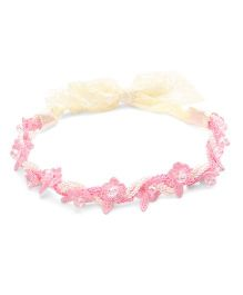 Sweet Berry Flower Head Band - Pink