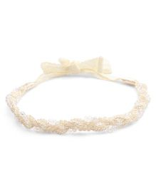 Sweet Berry Flower Head Band - Cream