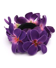Sweet Berry Pretty Flower Rubber Band - Violet