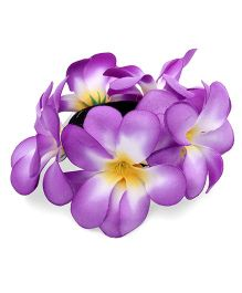 Sweet Berry Pretty Flower Rubber Band - Purple