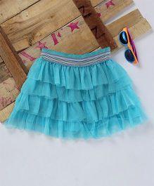 Eimoie Fancy Net Skirt - Sky Blue
