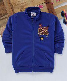 Eimoieh High School Printed Hooded Jacket - Blue