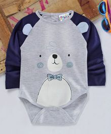 Eimoie Cute Animal Face Printed Onesie - Grey