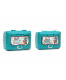 Buddsbuddy Combo Of 2 Baby Skincare Wet Wipes Canister Green  - 50 Pieces Per Pack