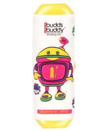 Buddsbuddy Brushing Kit Yellow - 15 Pieces