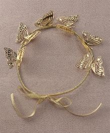 Sweet Berry Butterfly Tiara - Golden