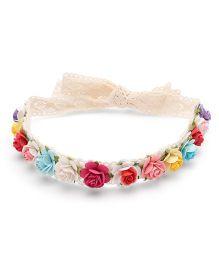 Sweet Berry Multi Flower Head Wrap - Multicolour