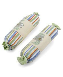 Abracadabra Stripes Bolsters Frog Design Set Of 2 - Multicolor