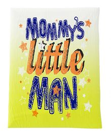 Fancy Fluff Premium Digitally Printed Comforter Little Man Theme - Yellow & Blue