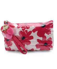 The Eed Flower Print Baby Purse - Pink & White