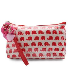 The Eed Elephant Print Baby Purse - Red